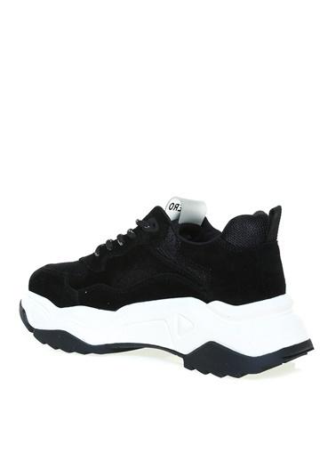 Aeropostale Aeropostale Süet Siyah Kadın Sneaker Siyah